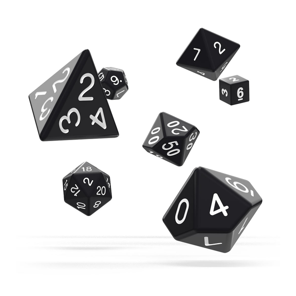 Oakie Doakie Dice RPG Set Solid Black