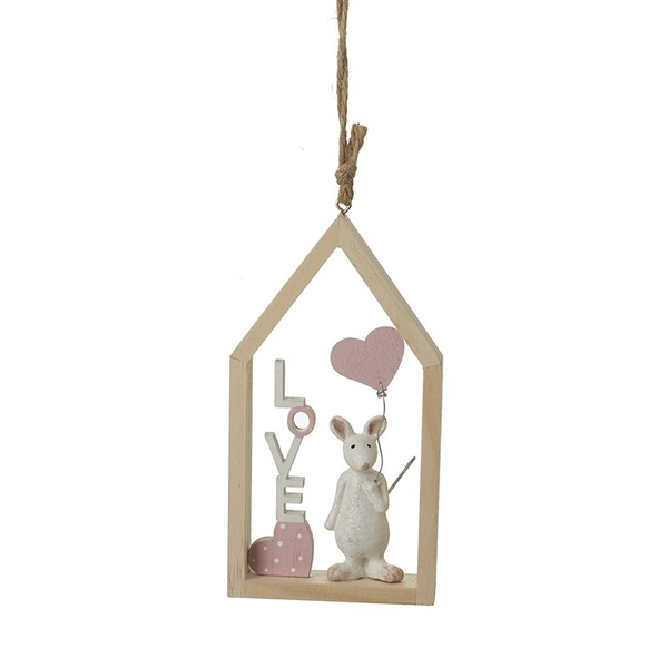 Mouse With Heart Balloon Hanging Dec By Heaven Sends