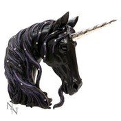 Jewelled Midnight Unicorn Bust