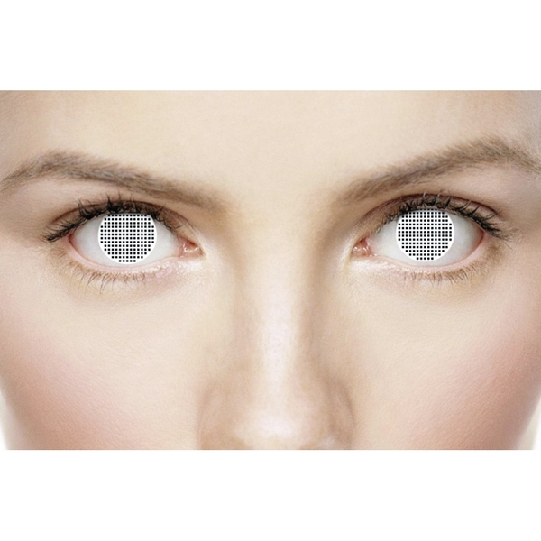 White Mesh 1 Month Halloween Coloured Contact Lenses (MesmerEyez XtremeEyez) - Image 3