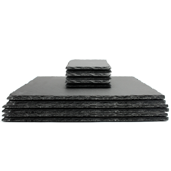 Natural Slate Placemats & Coasters | M&W 12pc