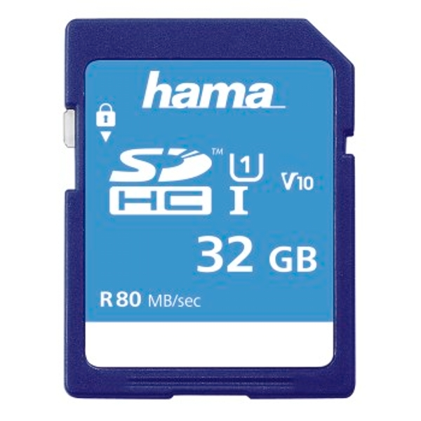 Hama SDHC | 32GB UHS-I Class1 | Super Fast Memory Card | C10 - (533x / 80Mb/s), 00124135