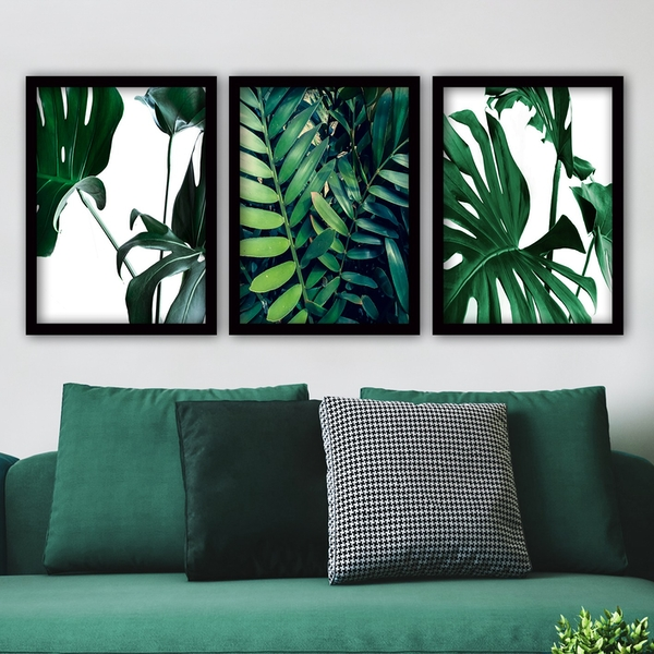 3SC101 Multicolor Decorative Framed Painting (3 Pieces)