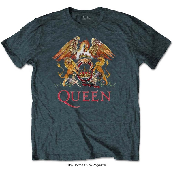 Queen - Classic Crest Men's XX-Large T-Shirt - Heather