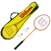 Wilson Badminton 2 Player Gear Set (Inc 2 Rackets and 2 Shuttles)
