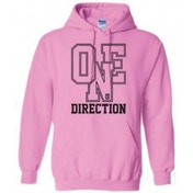 One Direction Athletic Logo Ladies Pouched Hoodie: Small