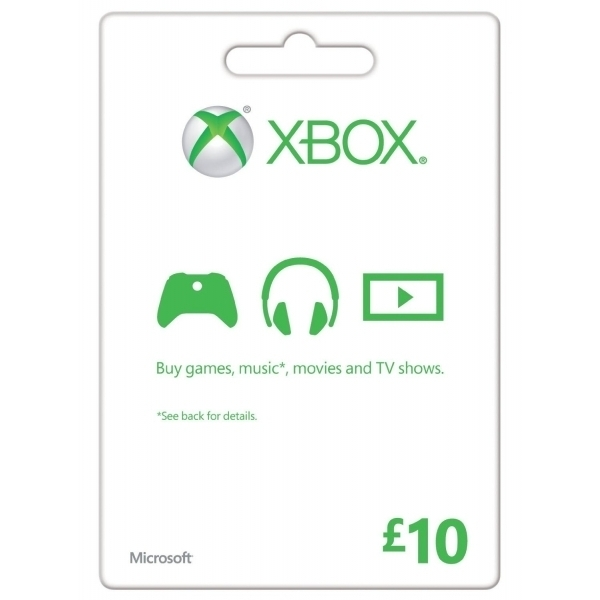 Microsoft Money (Gift Card) Ten 10 Pounds Xbox 360 & Xbox One