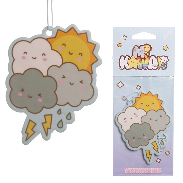 Raspberry Scented Kawaii Weather (Pack Of 6) Air Freshener