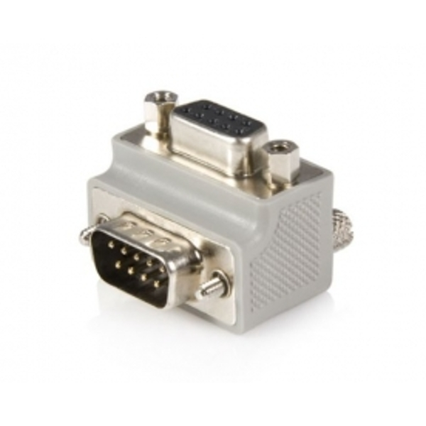 Right Angle DB9 to DB9 Serial Cable Adapter Type 2 Male to Female