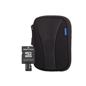 PRAKTICA 8GB Micro SD Card and Neoprene Case Bundle