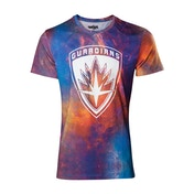 Marvel Comics Guardians of the Galaxy Vol. 2 Men's Small All-over Galaxy T-Shirt - Multicolour