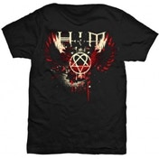 HIM Wings Splatter Mens TS: Large