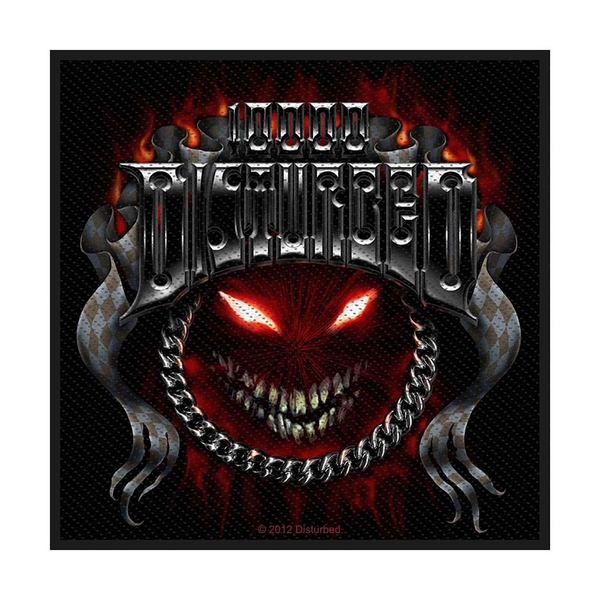 Disturbed - Chrome Smiley Standard Patch