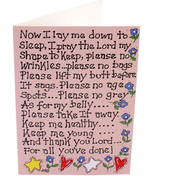 Pack of 6 Now I Lay Me Down Smiley Cards