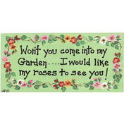 Won't You Come Into My Garden Smiley Sign