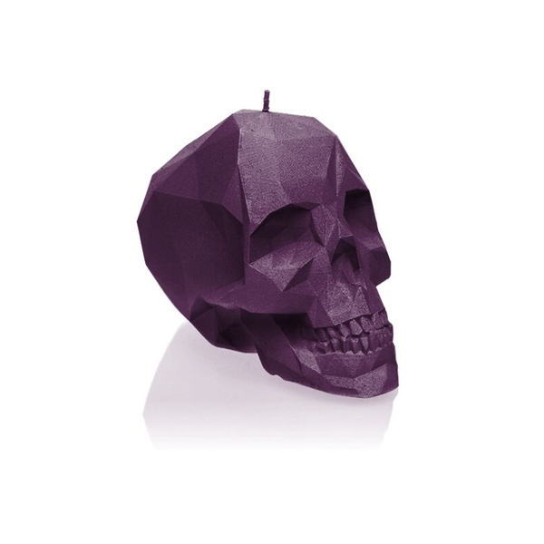 Violet Small Low Poly Skull