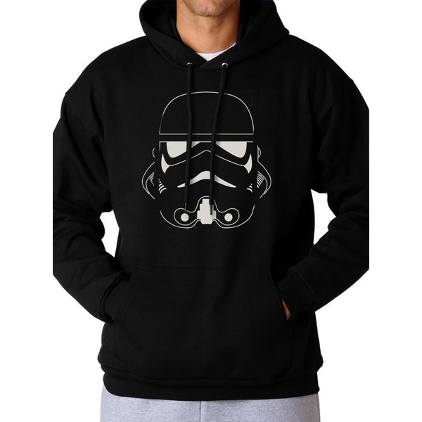 Star Wars - Men's Small Trooper Head Pullover Hoodie (Black)