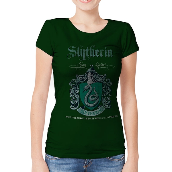 Harry Potter - Slytherin Team Quidditch Women's XX-Large T-shirt - Green