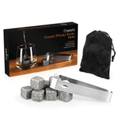 Savisto 10 Whisky Stones and Tongs Set with Gift Box