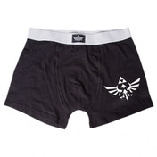 Nintendo Legend of Zelda Adult Male White Royal Crest Large Boxer Short
