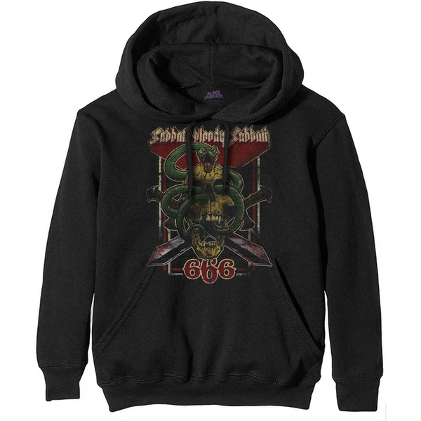 Black Sabbath - Bloody Sabbath 666 Men's X-Large Pullover Hoodie - Black