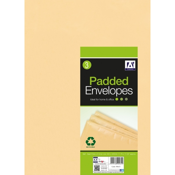 Anker Padded Brown Envelopes 320 x 455 Pack 3