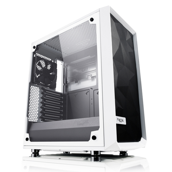 Fractal Design Meshify C Midi Tower Case - White Tempered Glass