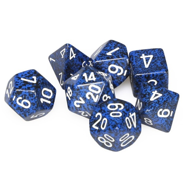 Chessex Speckled Poly 7 Dice Set: Stealth