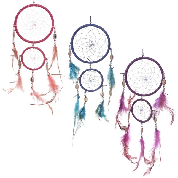 Decorative Feather and Bead Dreamcatcher 37cm (1 Random Supplied)