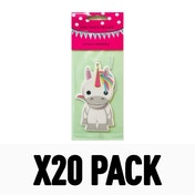 2D Carded Strawberry (Pack Of 20) Unicorn Air Freshener