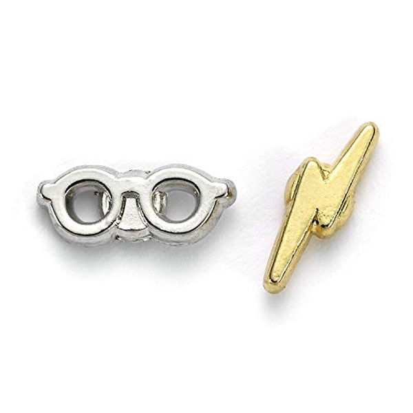 Harry Potter Silver Plated Earrings Lightning Bolt & Glasses