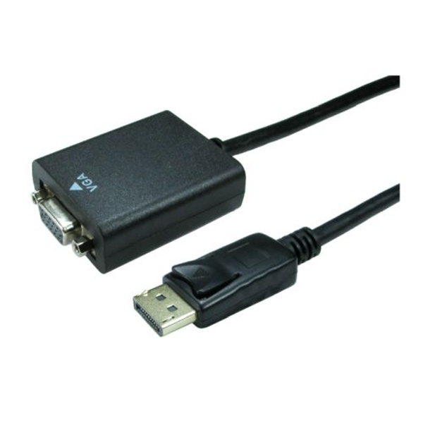 Spire DisplayPort Male to VGA Female Converter Cable, Black