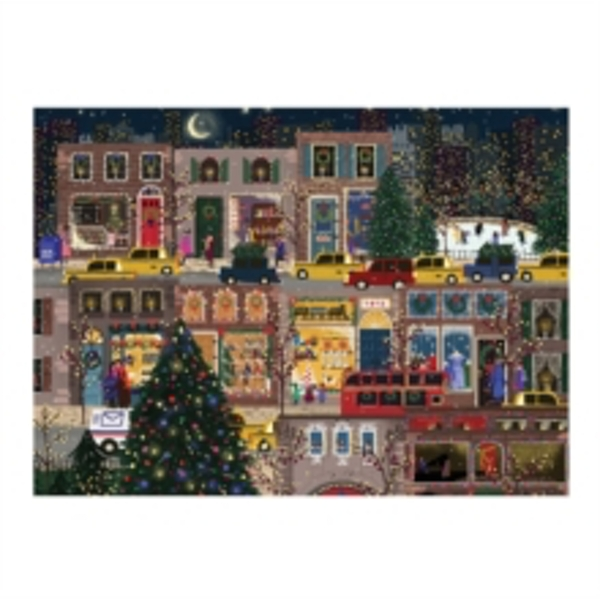 Joy Laforme Winter Lights Large Embellished Holiday Notecards