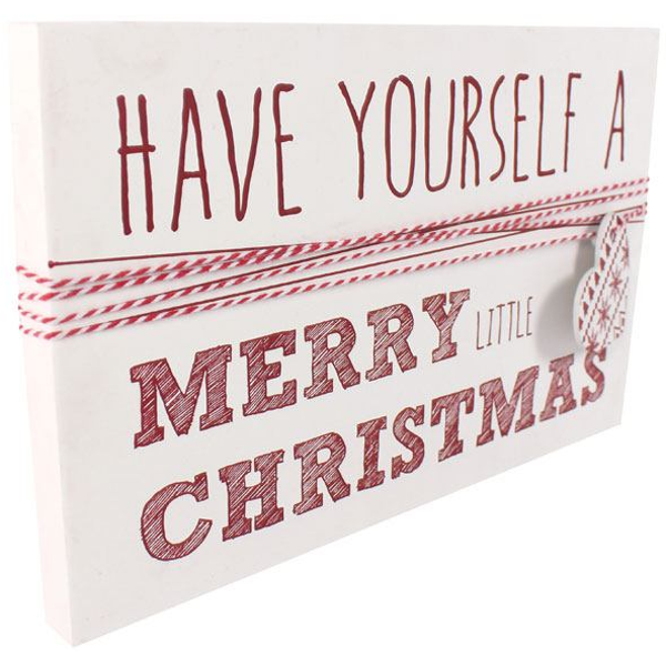 Have Yourself A Merry Little Christmas Sign.Have Yourself A Merry Little Christmas Wall Sign