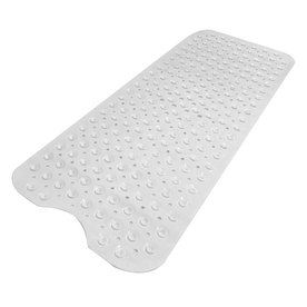 Non-Slip Extra Long Bath Shower Mat | Pukkr White