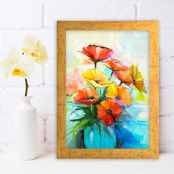 AC468631994 Multicolor Decorative Framed MDF Painting