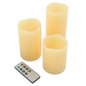 Remote Control Vanilla Scented Candles