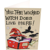 Pack of 6 Yes The Wicked Witch Smiley Cards