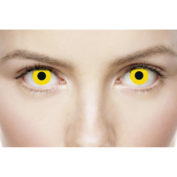 Yellow 1 Day Halloween Coloured Contact Lenses (MesmerEyez XtremeEyez) - Image 3
