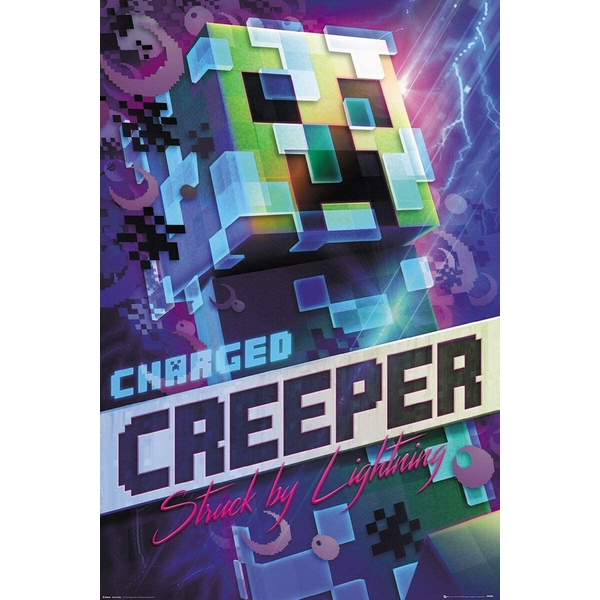 Minecraft - Charged Creeper Maxi Poster