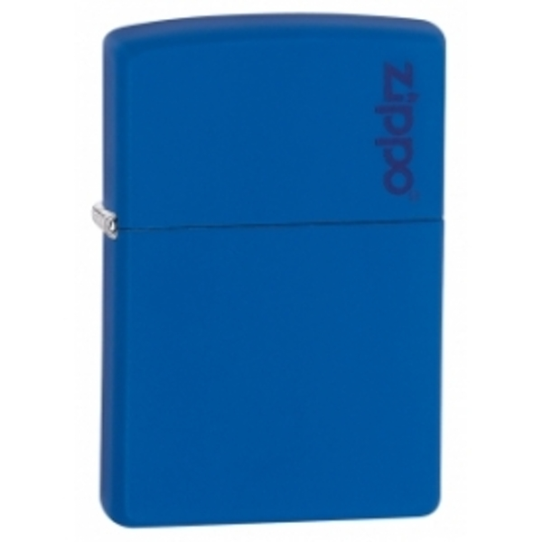 Zippo Logo Royal Blue Matte Lighter