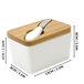 White Porcelain Butter Dish with Knife | M&W - Image 7