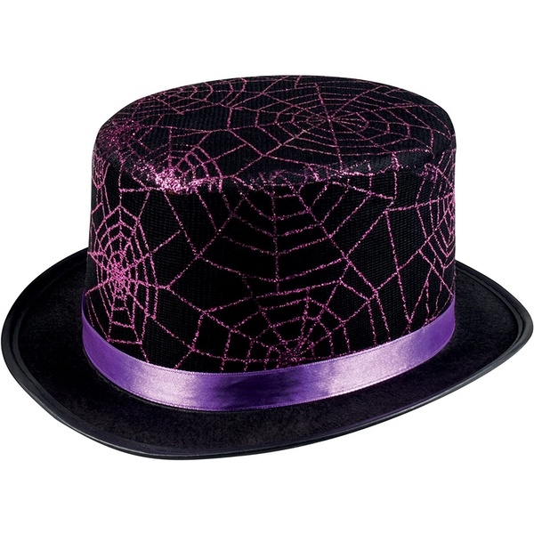 Glitter Spider Web Hat Halloween