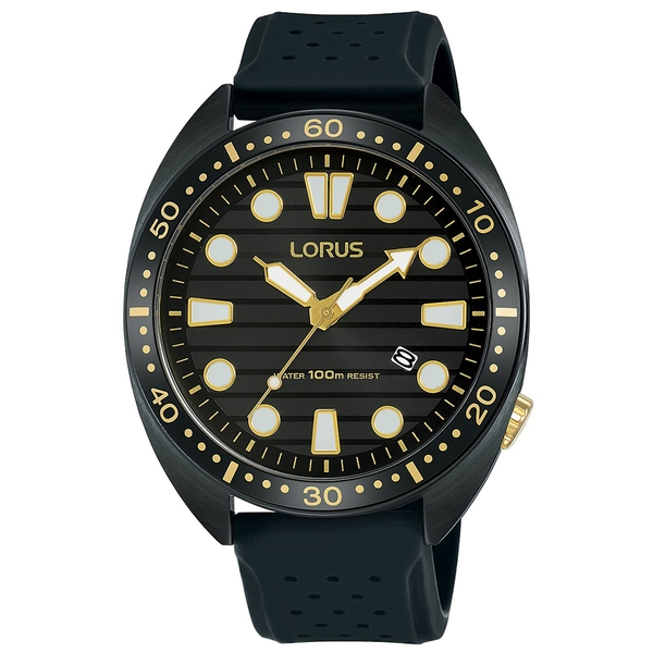 Lorus RH927LX9 Sports Dress Watch with Carbonized Titanium Coated Case