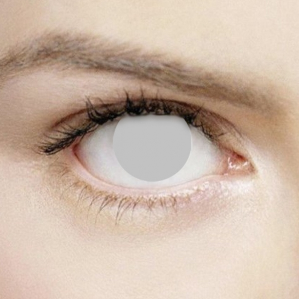 Blind Grey 1 Day Halloween Coloured Contact Lenses (MesmerEyez XtremeEyez) - Image 1
