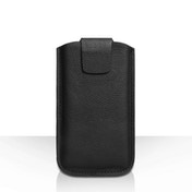 YouSave Lichee Real Leather Tab Pouch (M) - Black