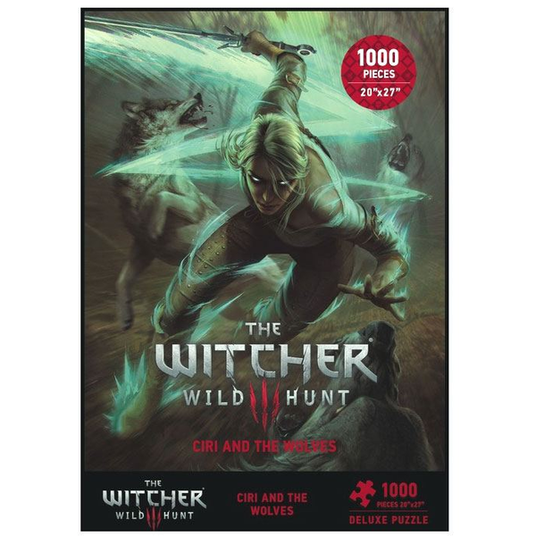 Witcher 3 Wild Hunt Puzzle Ciri and the Wolves