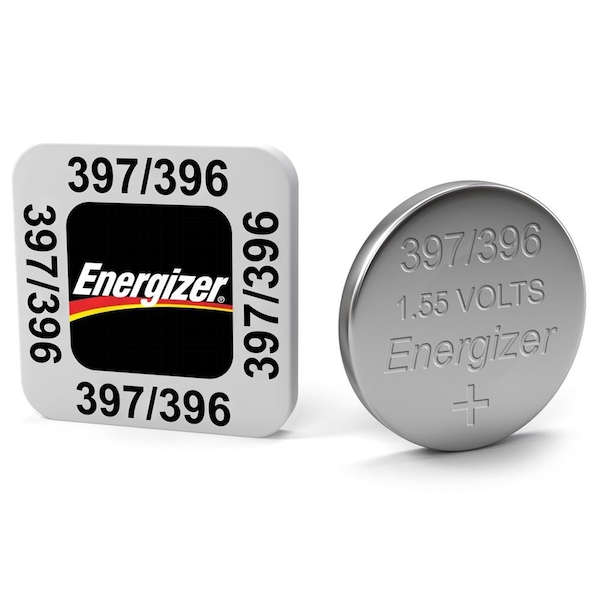 Energizer SR59/S77 397/396 Silver Oxide Coin Cell Watch Battery