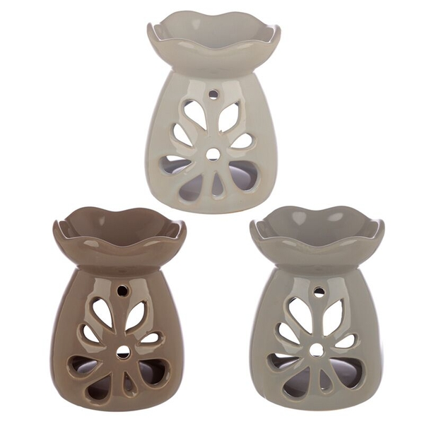 Pastel Tones Floral Ceramic Oil Burner (1 Random Supplied)