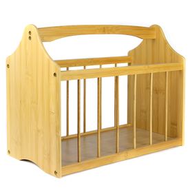 Bamboo Magazine & Newspaper Rack | M&W